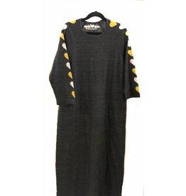 So Nikki So Nikki Juniors Charcoal Vintage Dress with Hearts on Sleeve