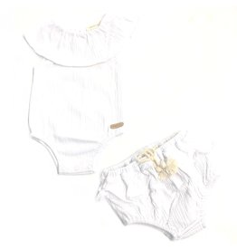 Kiki-O Fragile Baby Crinkle Onesie & Bloomer Set