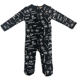 Kiki-O So What Baby Footie with All over Print