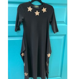 Kiki-O Cindy Girls Dress With Gold Stars