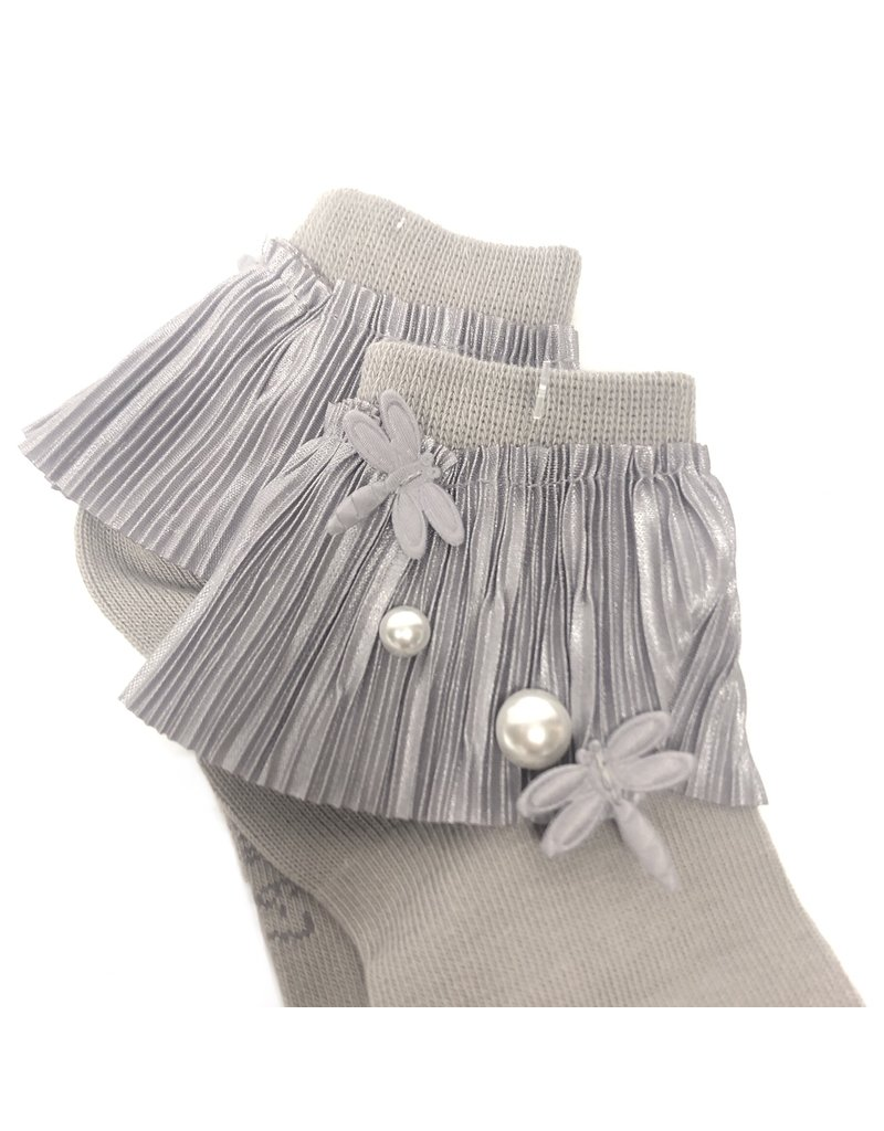 JRP JRP Pleated Lace with Pearl Anklet