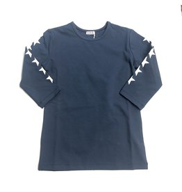 Kiki-O 5 Star Girls 3/4 Sleeves Shirt With Stars