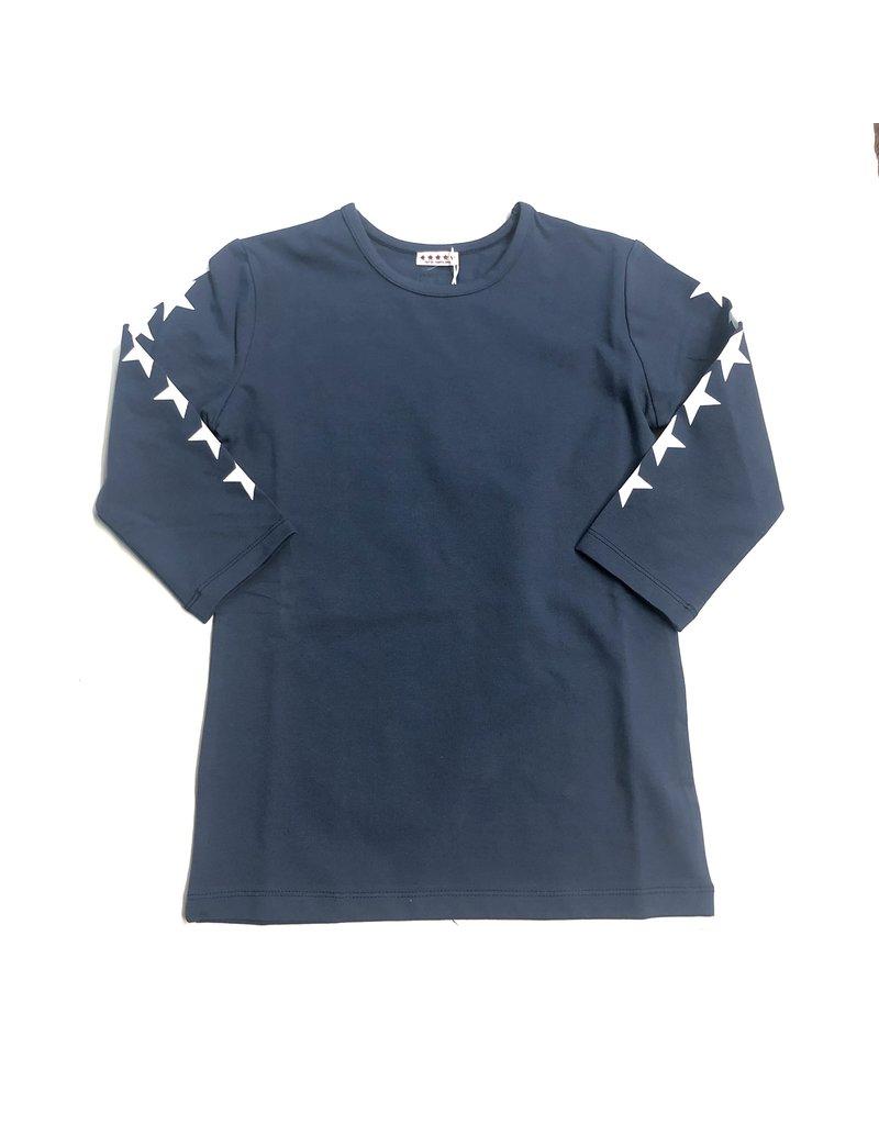 Kiki-O 5 Stars Girls 3/4 Sleeves Shirt With Stars