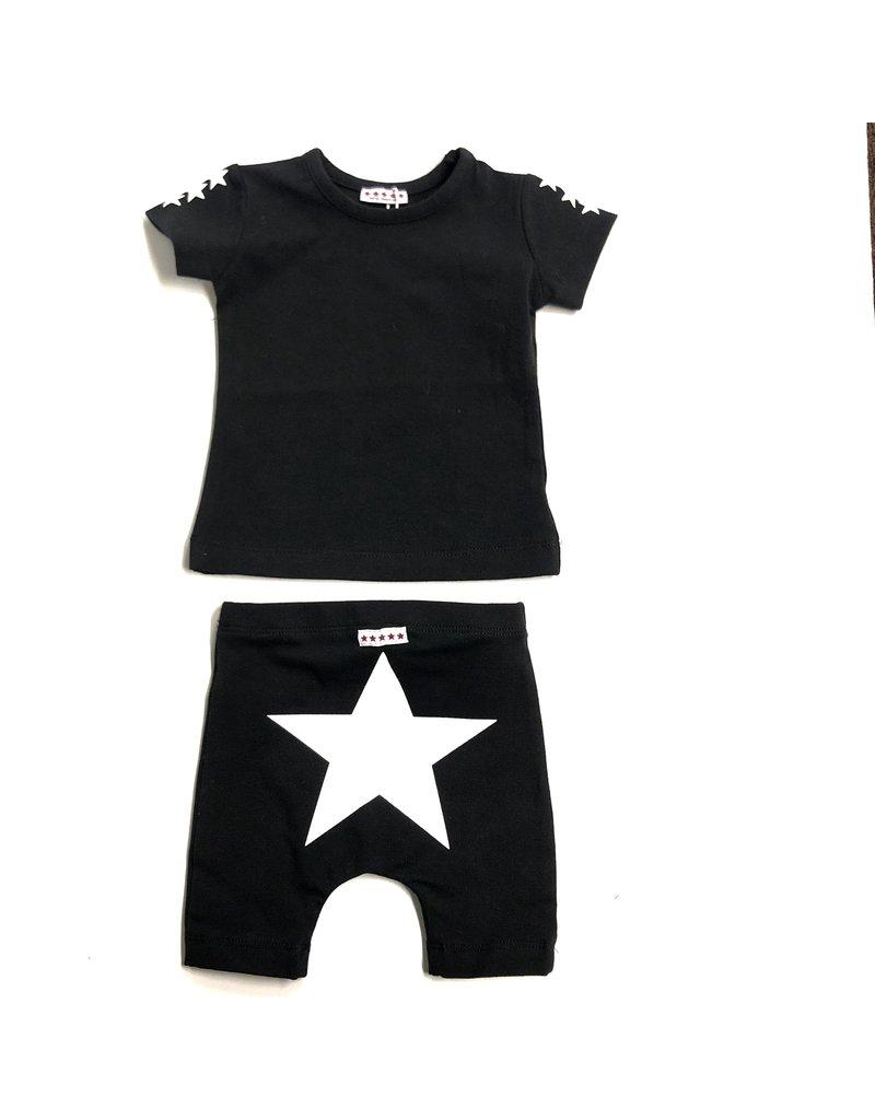 Kiki-O 5 Stars Girls 3/4 Sleeve Shirt With Stars and Leggings Set