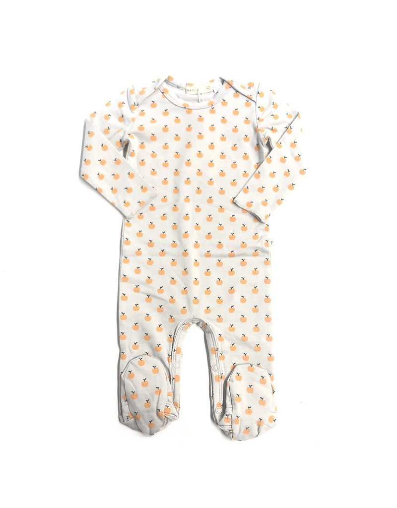 Kiki-O Fragile Baby Romper With Apple Print