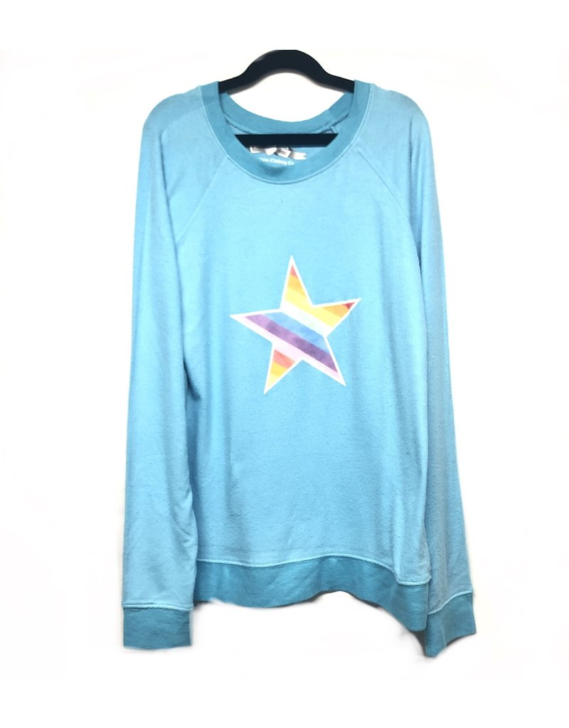 So Nikki So Nikki Turquoise Junior Rainbow Star L/S Top