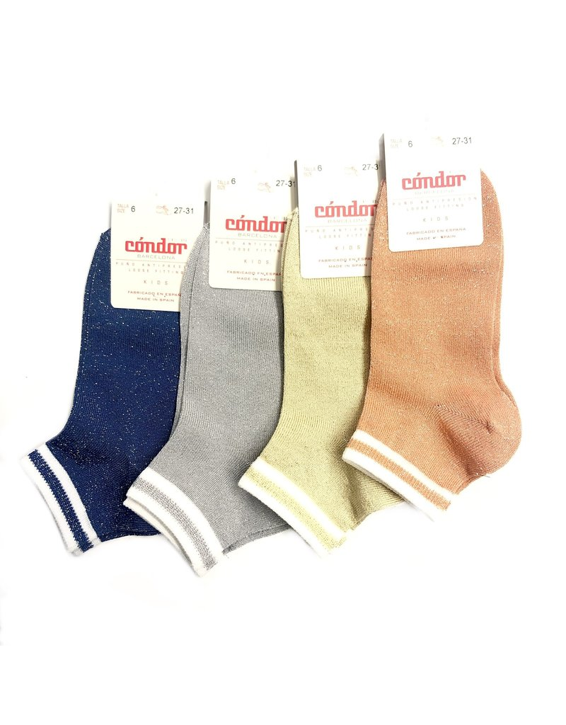 Condor Condor Shimmer Sock w/ Stripped Cuff (3268/4)