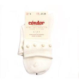 Condor Condor Rolled Sock w/ Pearls 2489/6
