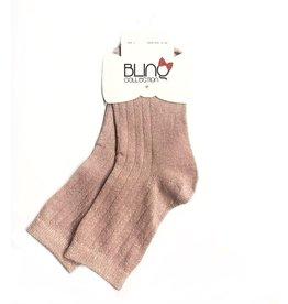 Blinq Blinq Metallic Ribbed Ankle Socks