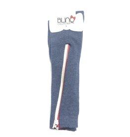 Blinq Blinq Two Tones Zipper Knee High Socks
