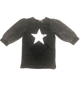 Kiki-O 5 Star Girls Puff Sleeves T-Shirt W/ Star Print