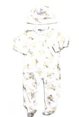 Kiki-O Milk Baby Romper & Hat W/ Butterfly Print
