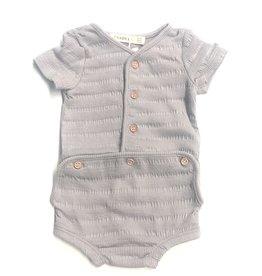 Kiki-O Fragile Baby Stripe Rib Romper