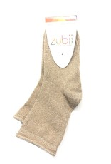 Zubii Zubii Rolled Top Shimmer Ankle Sock