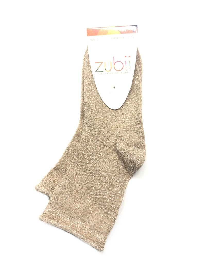 Zubii Rolled Top Metallic Ankle Sock