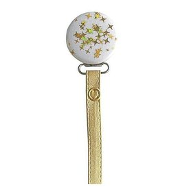 Classy Paci Classy Paci Gold Sparkles Pacifier Clip