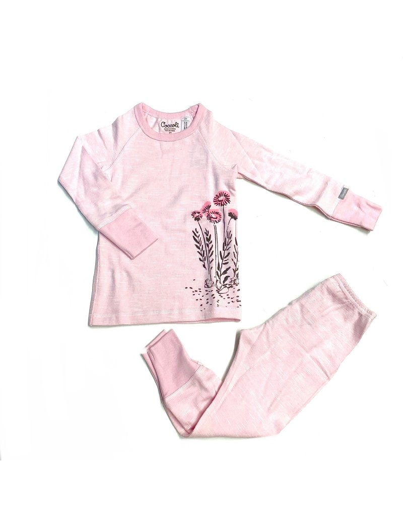 Coccoli Coccolli Pink Flower Cotton Pajama