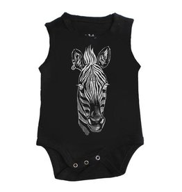 No Biggie No Biggie Zebra Onesie & Bloomer Set