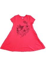 No Biggie No Biggie Pocket Dress W/ Hummingbird Print