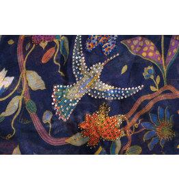 Ana & Ava Ana & Ava Navy Rainbow Hummingbird Tichel