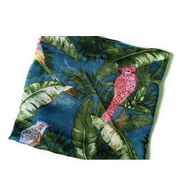 Ana & Ava Ana & Ava Palm Leaf Blue Tichel