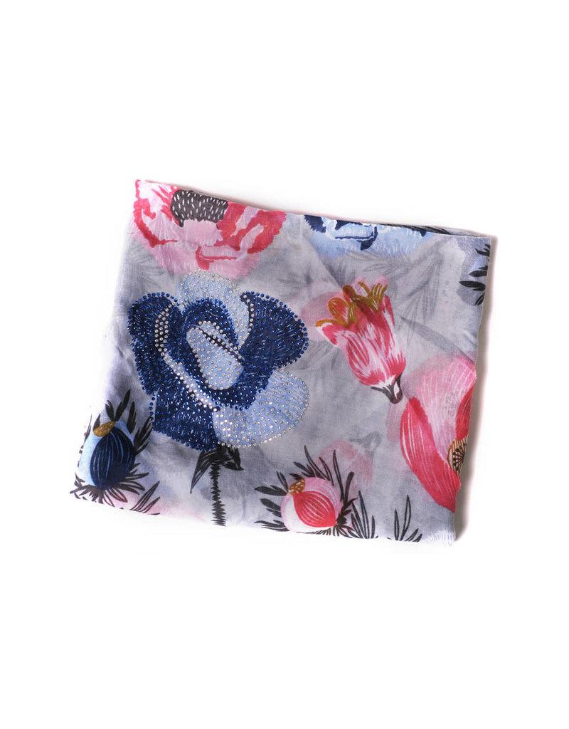 Ana & Ava Ana & Ava Pink & Blue Flowers Tichel