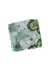 Ana & Ava Ana & Ava Teal & White Butterfly Tichel