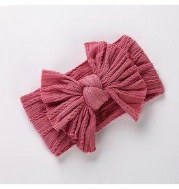 Bandeau Bandeau Floppy Sweater Bow Dusty Rose Large