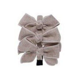 Bandeau Bandeau Triple Wool Bow Headband Oatmeal