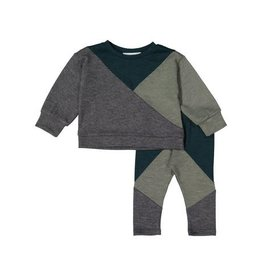 Petals & Peas Petals and Peas X Eishes Style Geometric Sweater Set