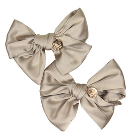 Halo Halo Serenity Silk Bow Double Clip