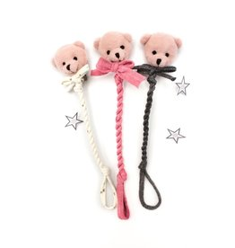 Petite Blonde Petite Blonde Pink Bear Pacifier Clip
