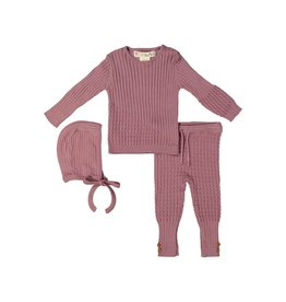 Teela Teela Baby Cable Knit 3 Piece Set
