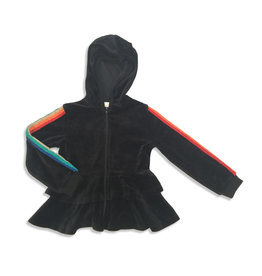 Kiki-O Lux Hoodie W/ Rainbow Ribbon