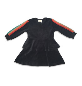 Kiki-O Lux Dress With Rainbow Ribbon on Sleeves