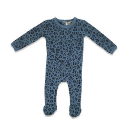 Kiki-O Little Paw Quilted Leopard Print Romper