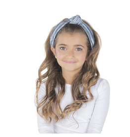 DaCee Dacee Shimmer Pleated Knot Headband