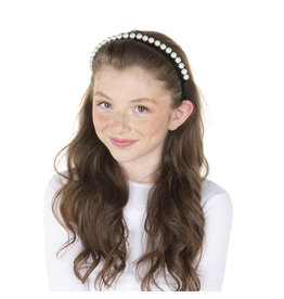 DaCee Dacee Velvet and Pearls Headband
