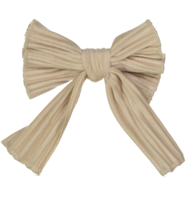 DaCee Dacee Small Accordion Pleated Velvet Bow Clip