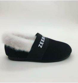 Zeebra Zeebra Ebony Black Zeebrakids Fur Slipper