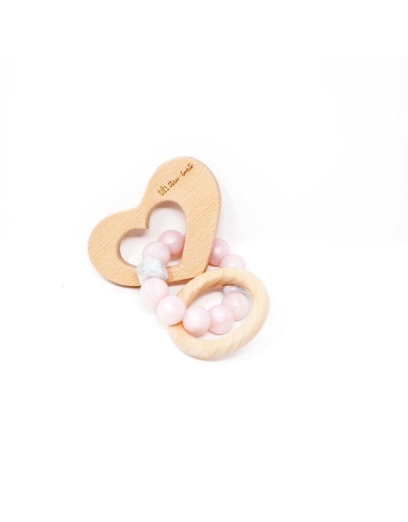 Three Hearts Three Hearts Key Teething Rattle
