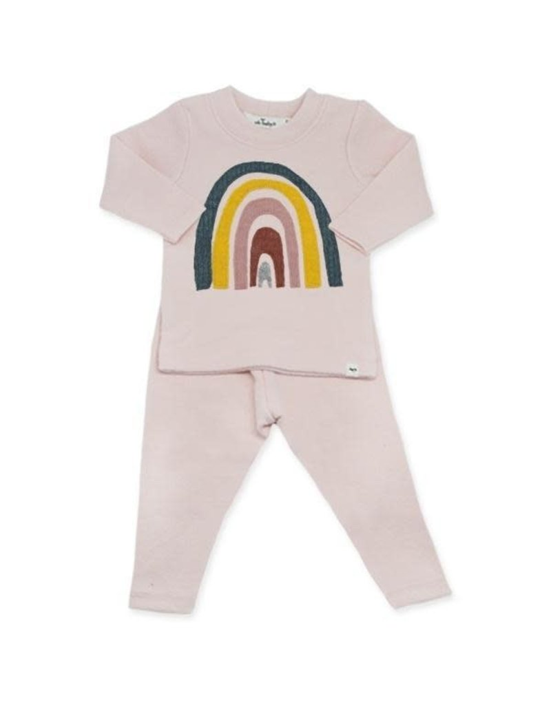 oh baby! Oh Baby 2PC Set  Rainbow Brushed Pale Pink