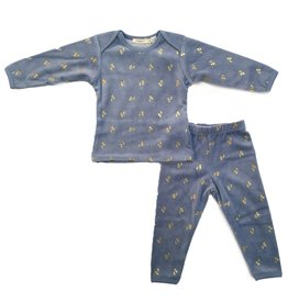 Kiki-O Fragile 2PC Pajama Set W/ Cherry Print