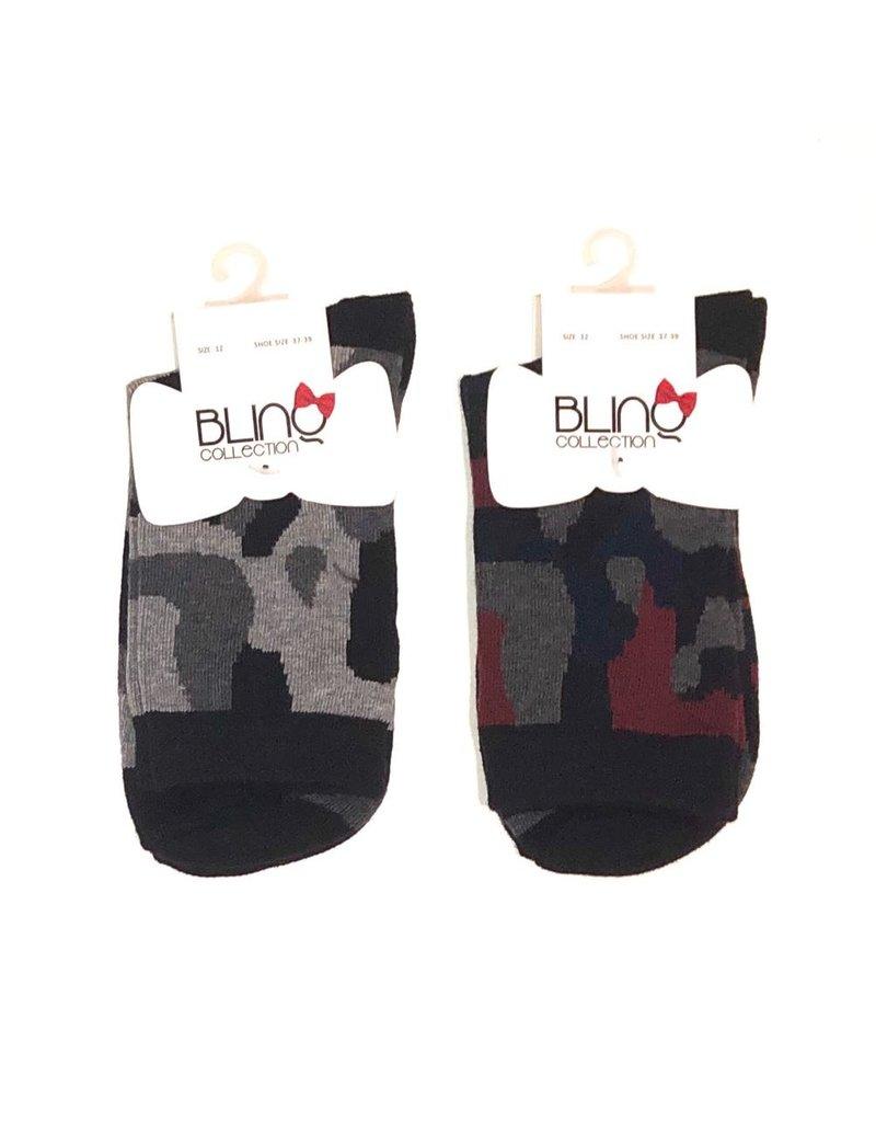 Blinq Blinq Camo Print Socks