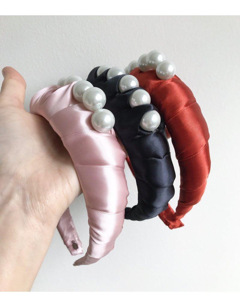 Hettie Hettie Pearl Satin Padded Headband