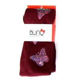 Blinq Blinq Glitter Butterfly Patch Tights