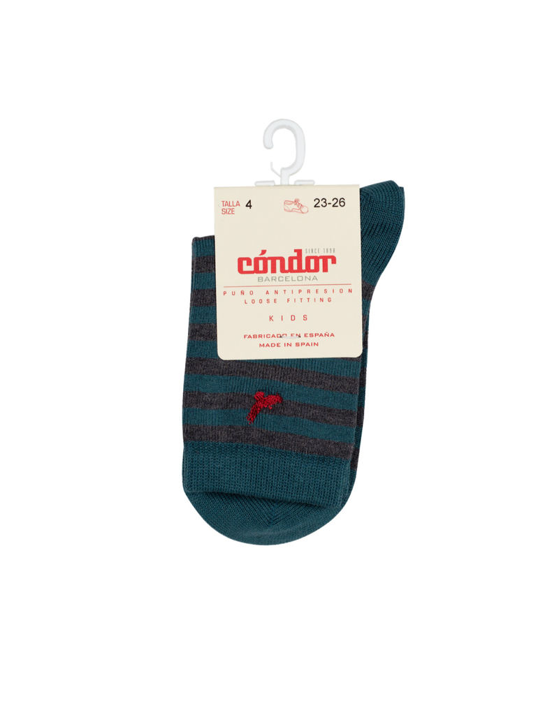 Condor Condor Striped Sock w/ Embroidered Condor 3844/4