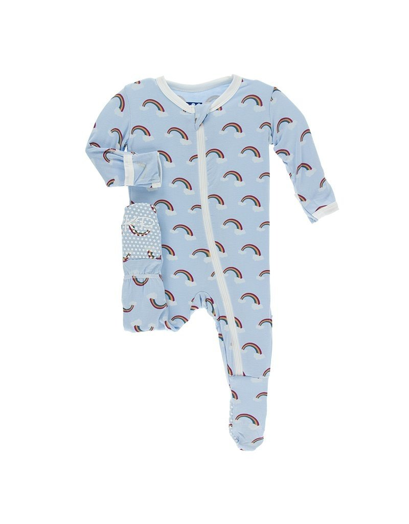 Kickee Pants Kickee Pants Print Footie with Snaps