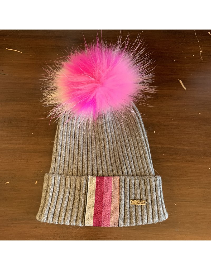 Bari Lynn Bari Lynn Fur taping Winter Hat