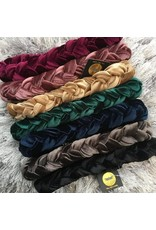 Tal Tal Solid Velvet Braid Band